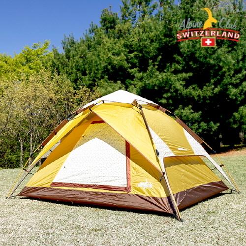 스위스 알파인클럽 루나 원터치 텐트 (3~4인용) (업체별도 무료배송)